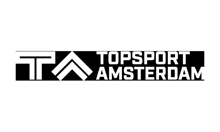 Topsport Amsterdam logo wit