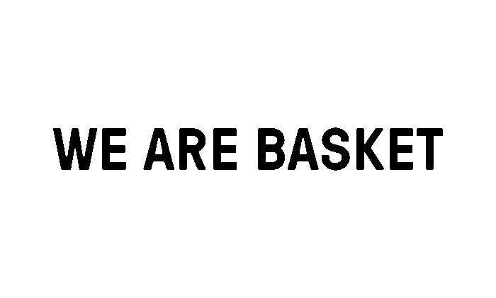 We Are Basket logo wit
