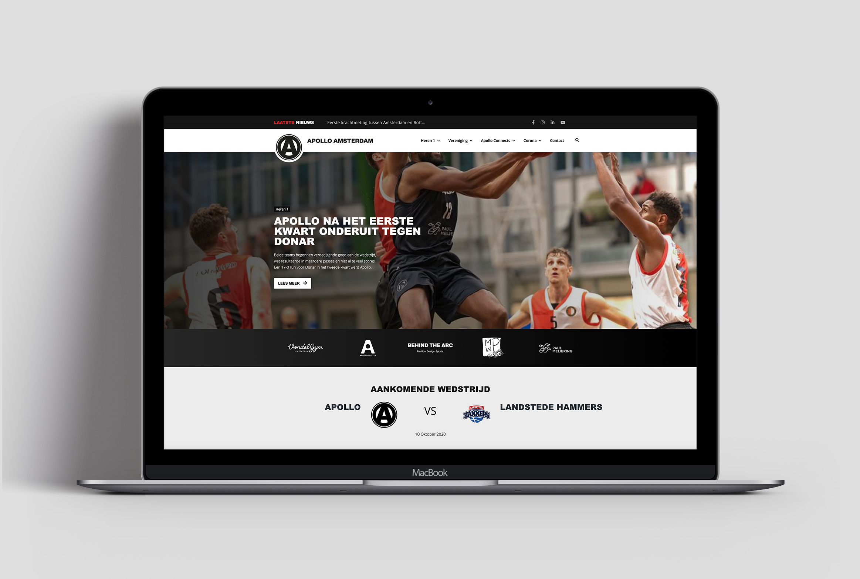 Apollo Basketball Amsterdam website